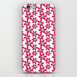 Red paper flowers iPhone Skin