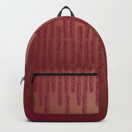 Eye of the Magpie tribal style pattern - dark rose on copper Backpack