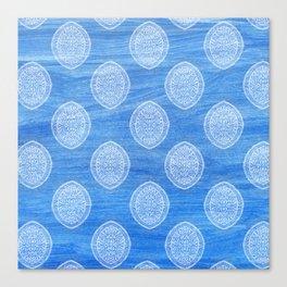 Summery Batik Painted Pattern Canvas Print