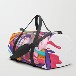 Illustration of Colorful Skull Duffle Bag
