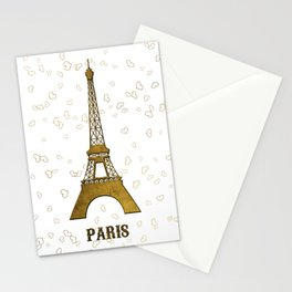 Sweet Memories Eiffel Tower Stationery Cards