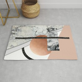 Collage II ( marble, copper, volcanic rock) Rug