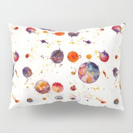 watercolor bubbles Pillow Sham