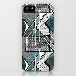 Light gray geometric print. iPhone Case