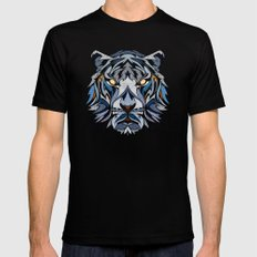 Tiger Black Mens Fitted Tee MEDIUM