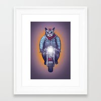 lil bub Framed Art Prints featuring Caferacer Lil Bub by Bacht