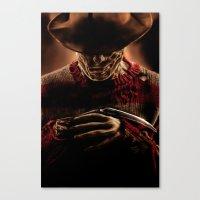 freddy krueger Canvas Prints featuring Freddy Krueger by Duke78