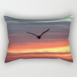 Black Gull by nite Rectangular Pillow