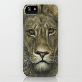 Lion | Animal Painting | Realism | Wildlife Art | Home Decor | Father's Day iPhone Case