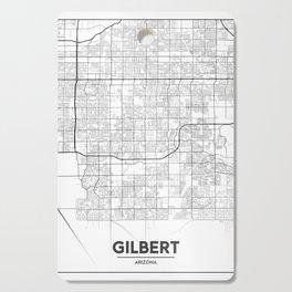 Minimal City Maps - Map Of Gilbert, Arizona, United States Cutting Board