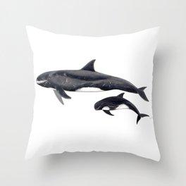 Pygmy killer whale Throw Pillow
