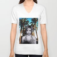 clueless V-neck T-shirts featuring Brittany Murphy  by VANN DESIGNS