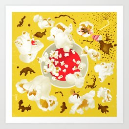 Popcorn princesses Art Print