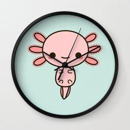 Kawaii axolotl Wall Clock