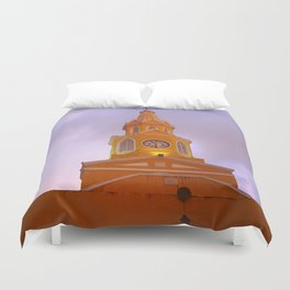 Cartagena Clocktower Duvet Cover
