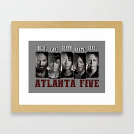 Atlanta Five - The Walking Dead Framed Art Print