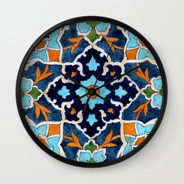Mediterranean tile Wall Clock