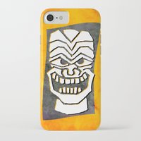tiki iPhone & iPod Cases featuring Tiki by materndesign