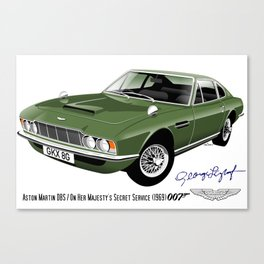 James Bond Aston Martin DBS from OHMSS Canvas Print