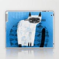 SIAMESE ON BLUE Laptop & iPad Skin