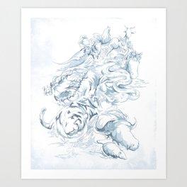 The Race Art Print