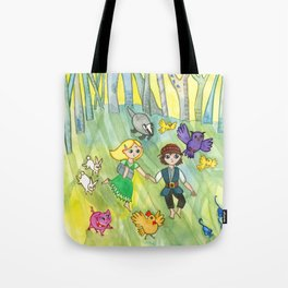 Hansel and Gretel Escape Tote Bag