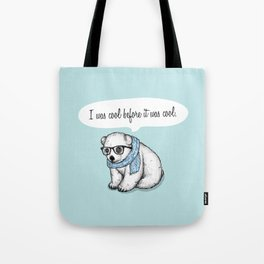 Hipster polarbear Tote Bag