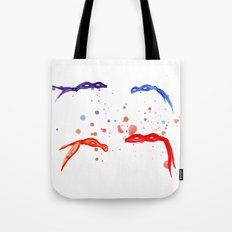 Watercolor Ninja Masks Tote Bag