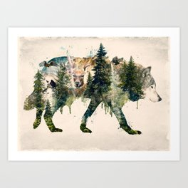 Wolf is the Pride of Nature Art Print