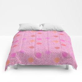 BOJANGLES, VINTAGE RETRO DOTS: LIPSTICK Comforters