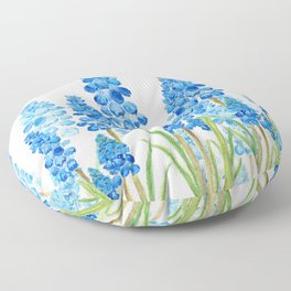 blue grape  hyacinth forest Floor Pillow