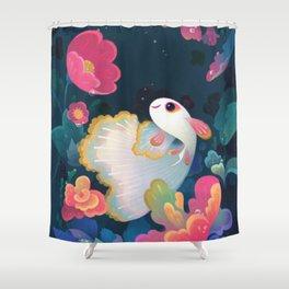 Flower guppy Shower Curtain