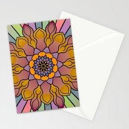 Pastel floral rainbow mandala Stationery Cards