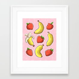 Strawberry and Banana Framed Art Print