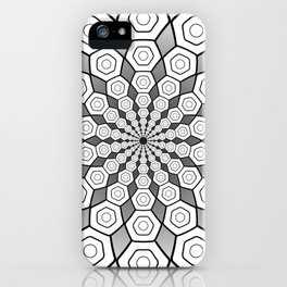 Hexa Mandala iPhone Case