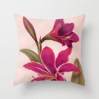 vintage floral Throw Pillows featuring Vintage Floral by 83 Oranges™