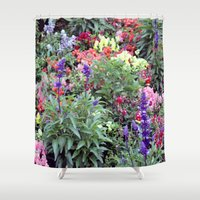 sweden Shower Curtains featuring Sweden Flowers by Cynthia del Rio