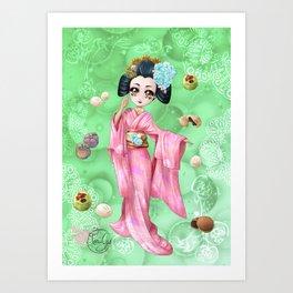 Wagashi Art Print