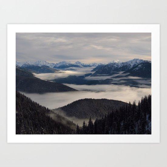 the hills Art Print