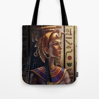 egyptian Tote Bags featuring Egyptian by Ayu Marques