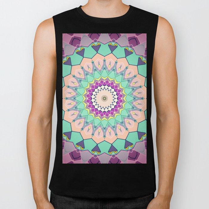 Colorful Symmetrical Abstract Biker Tank