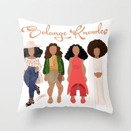 Solange Knowles Throw Pillow