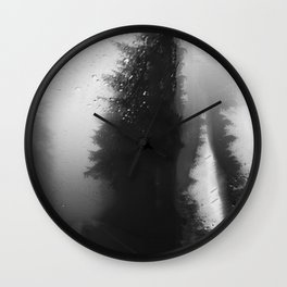 What Lies Down Hidden Rain Drenched Paths Wall Clock