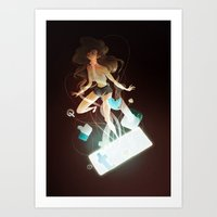 tangled Art Prints featuring Tangled by Marija Tiurina