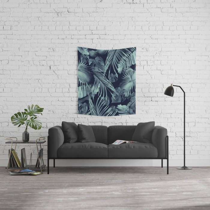 Tropical Jungle Leaves Dream #9 #tropical #decor #art #society6 Wall Tapestry