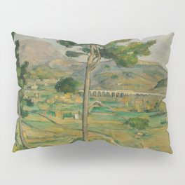 "Paul Cezanne ""Mountain Sainte-Victoire and the Viaduct of the Arc River Valley"" Pillow Sham"