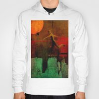 takmaj Hoodies featuring Jump on the green city by Ganech joe