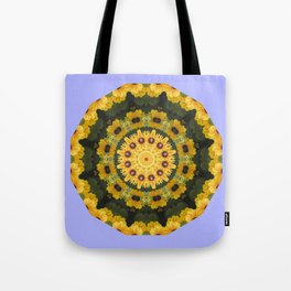 Black-eyed Susans 004.4, Floral mandala-style Tote Bag
