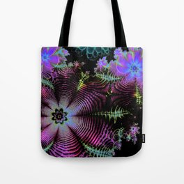Frilly Flowers 3 Tote Bag