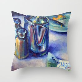 After Breakfast at the Diner Throw Pillow